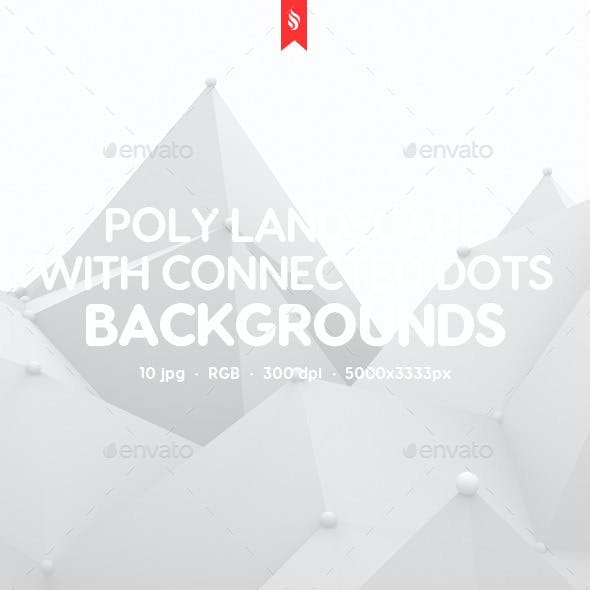 Polygonal Landscape with Connected Dots Backgrounds