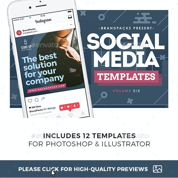 Business Social Media Templates Pack