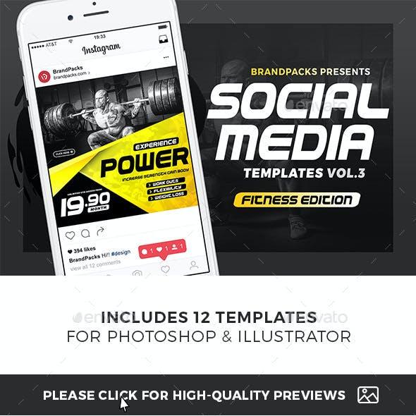 Gym / Fitness Social Media Templates