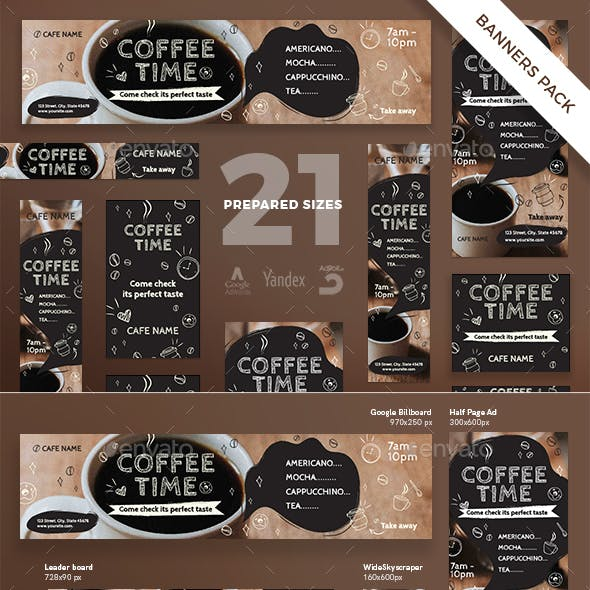 Coffee Time Banner Pack