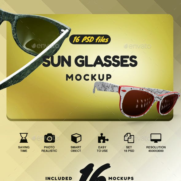 Sun Glasses Mockup