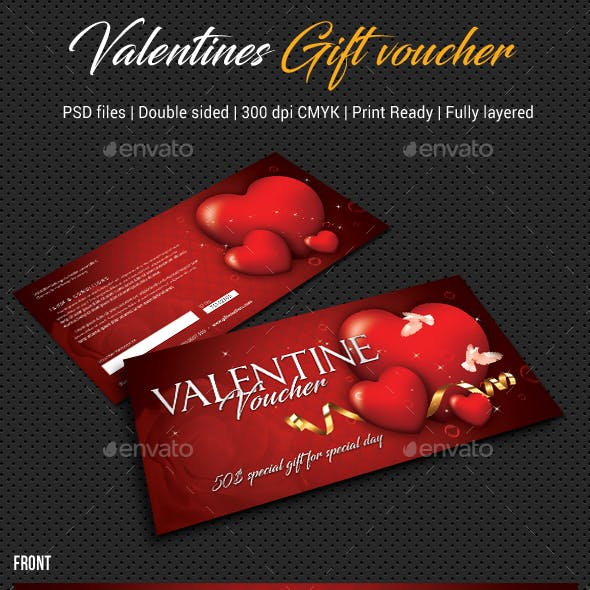 Valentines Gift Voucher V04
