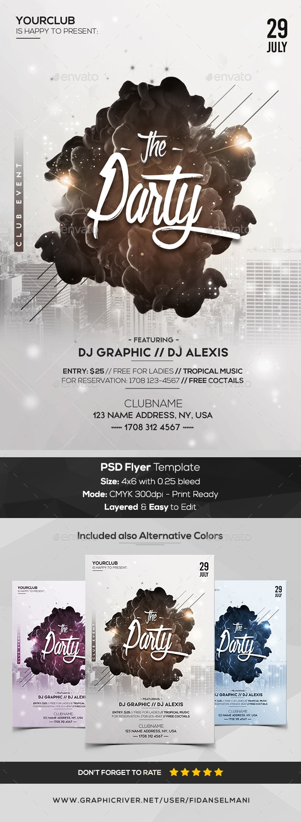 The Party - PSD Flyer Template - Flyers Print Templates