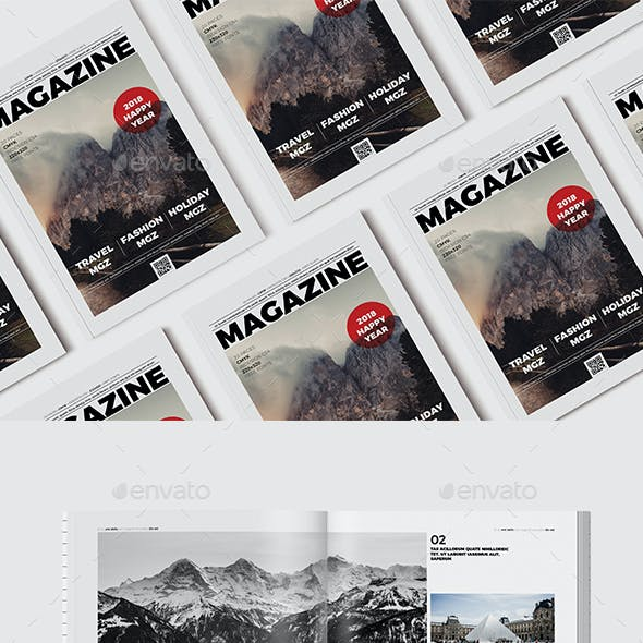 Magazine Template 20 Page