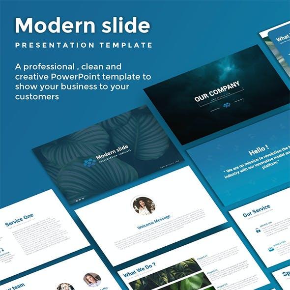 Modern Slide PowerPoint Template