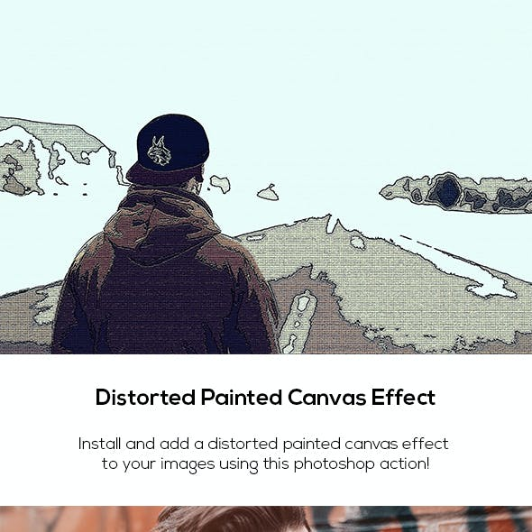 Distorted Painted Canvas Effect