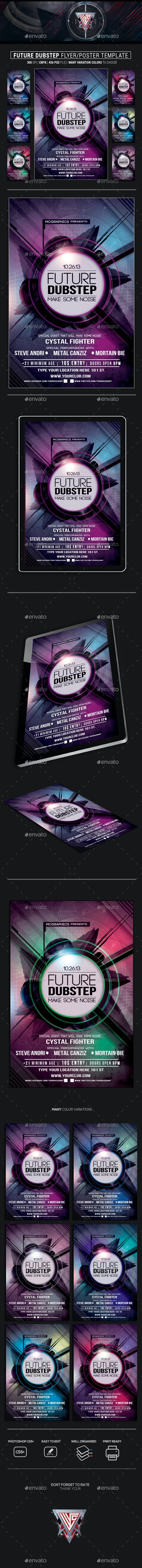 Future Dubstep Flyer Template - Events Flyers