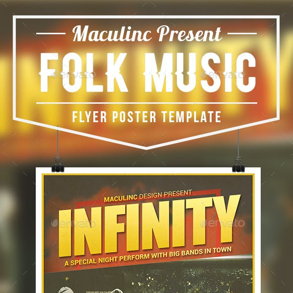 Folk Music Flyer/Poster Vol.5