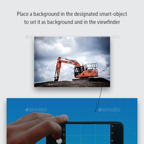PSD Scenery with Phone or Camera