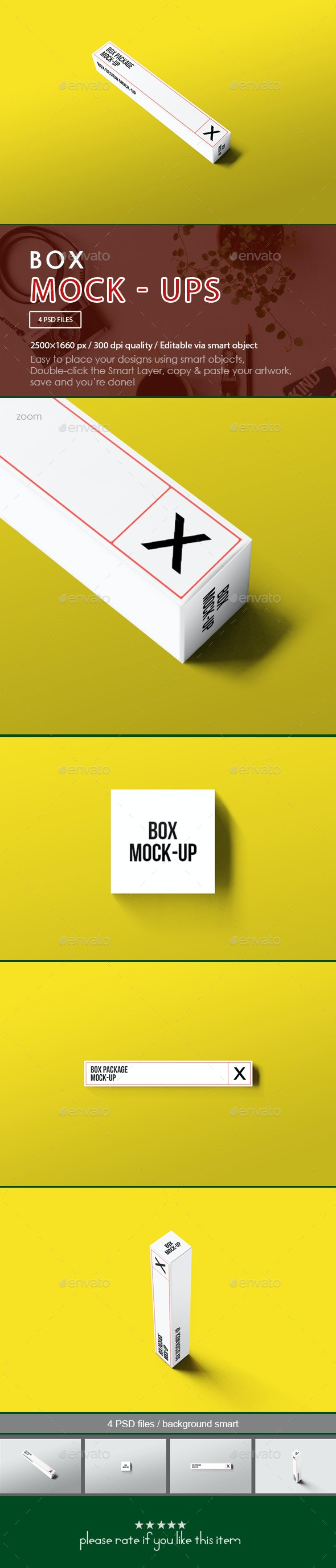 Box Package Mock-Up - Miscellaneous Print