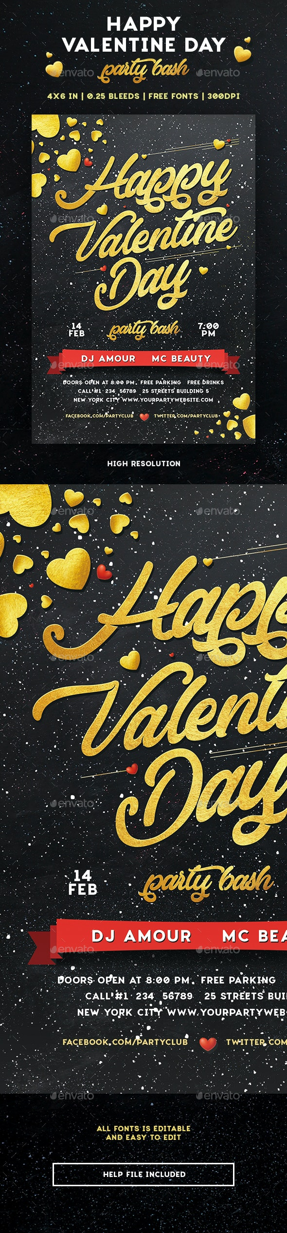 Happy Valentine Day - Events Flyers