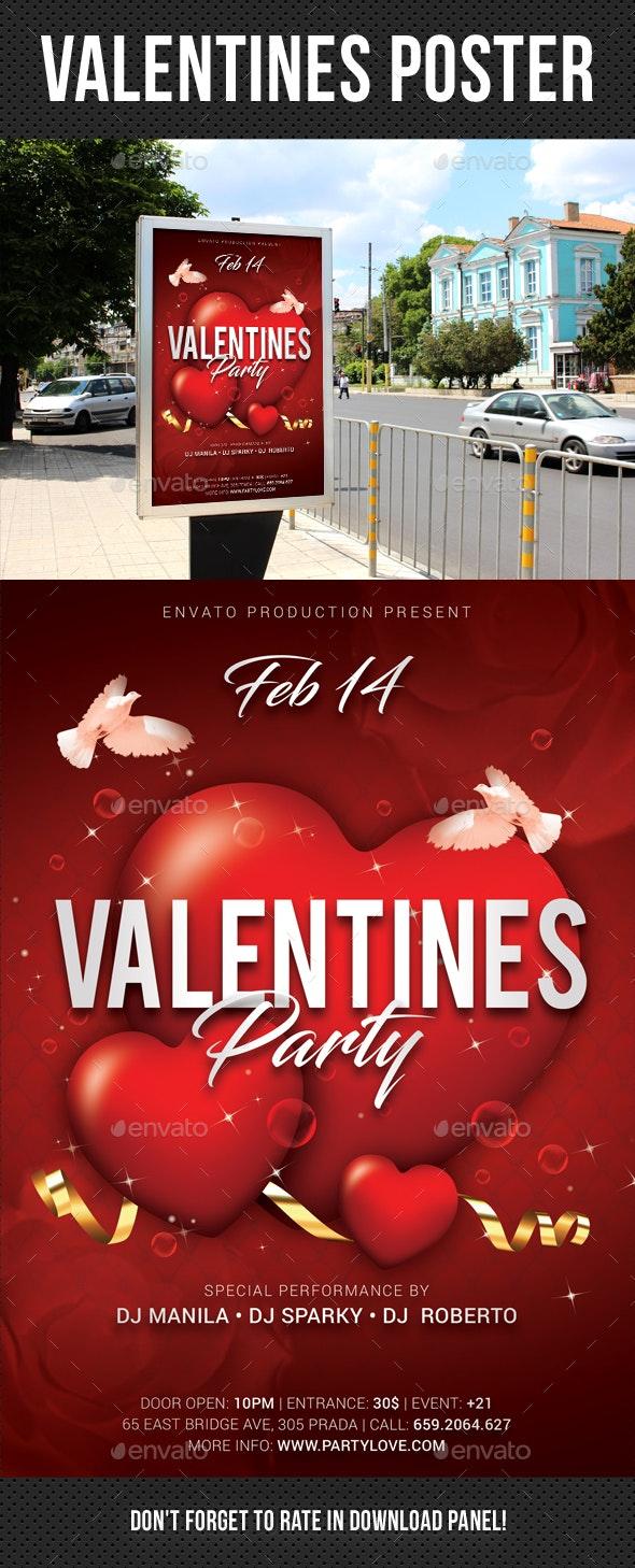 Valentines Poster - Signage Print Templates