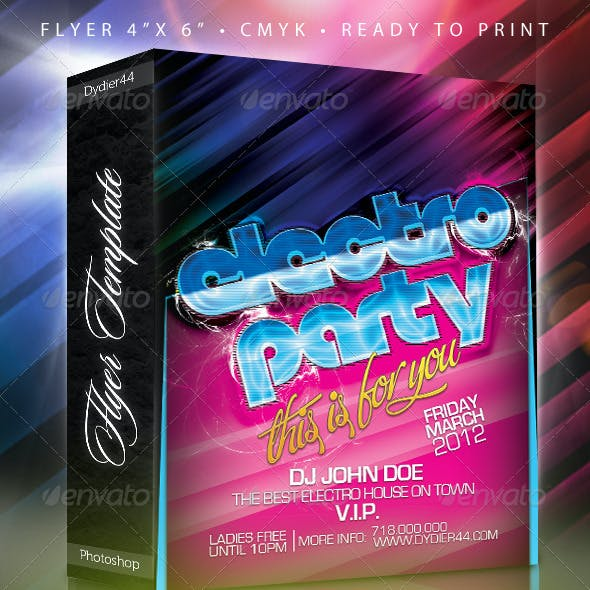 Electro Party (Flyer Template 4x6)
