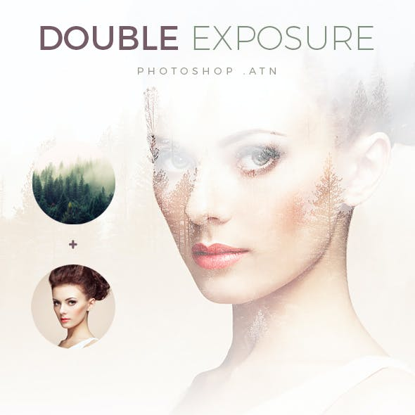Elegant Double Exposure - Light & Dark Background