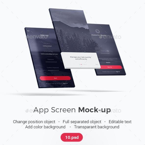 iPhone Screen / UI / App Screen Mockup