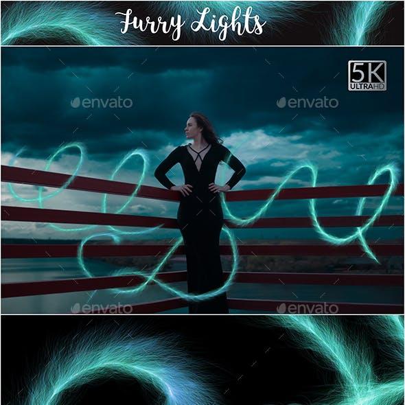 5K Furry Lights Overlays
