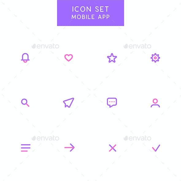 Mobile App - User Interface Icons Set
