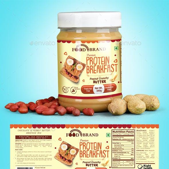 Peanut Butter Packaging Template