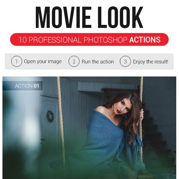 Movie Look | 10 Professional Photoshop Actions