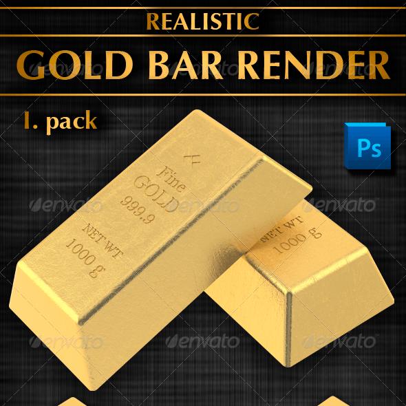 Gold Bar Render (I. Pack)