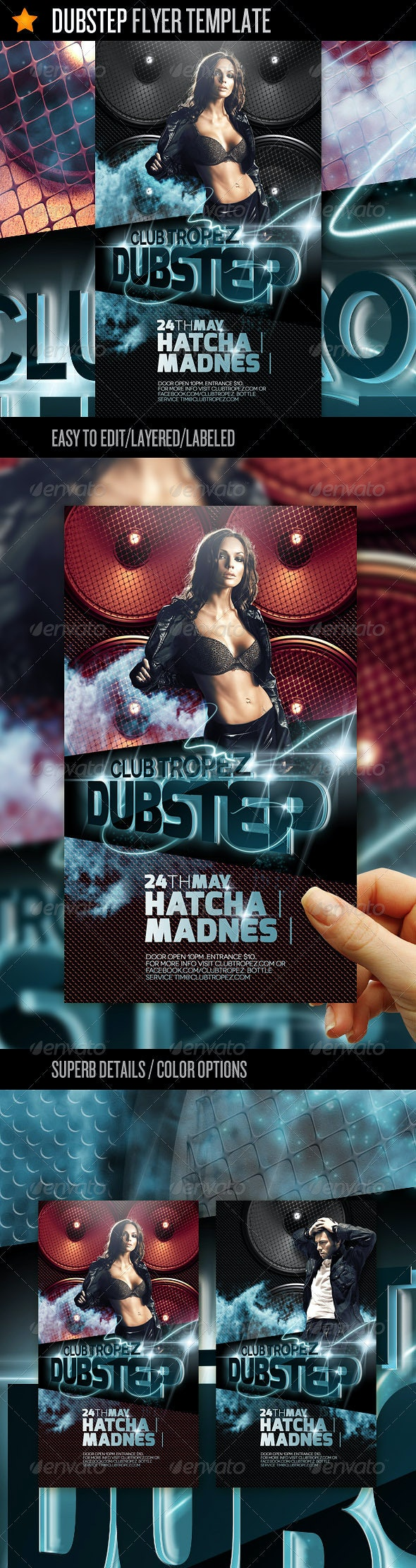 Dubstep - Flyer Template - Clubs & Parties Events