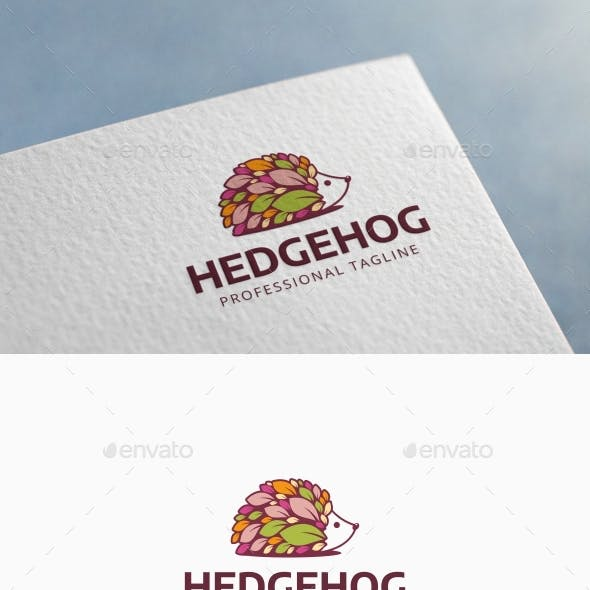 Hedgehog Leaves Logo