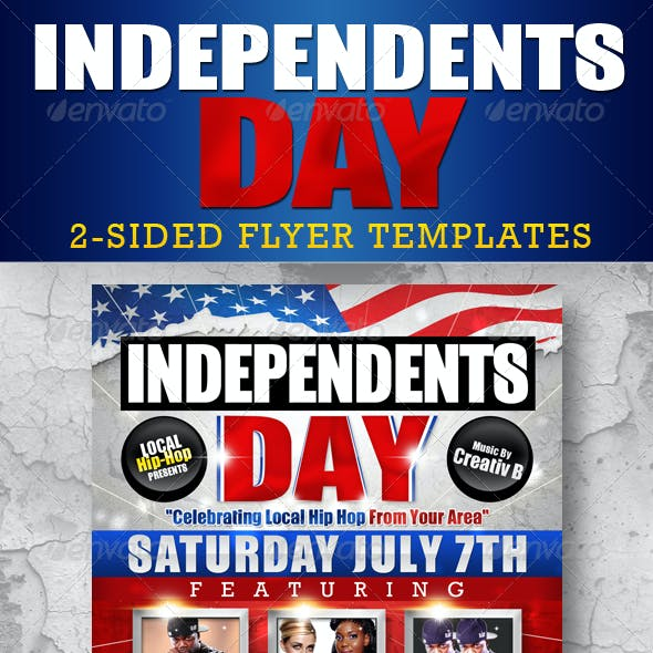 Independents Day Flyer Templates