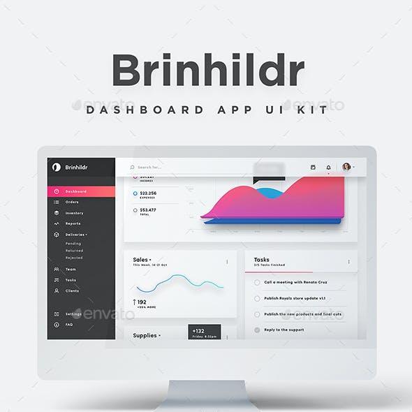 Brinhildr - Dashboard Web App UI Kit