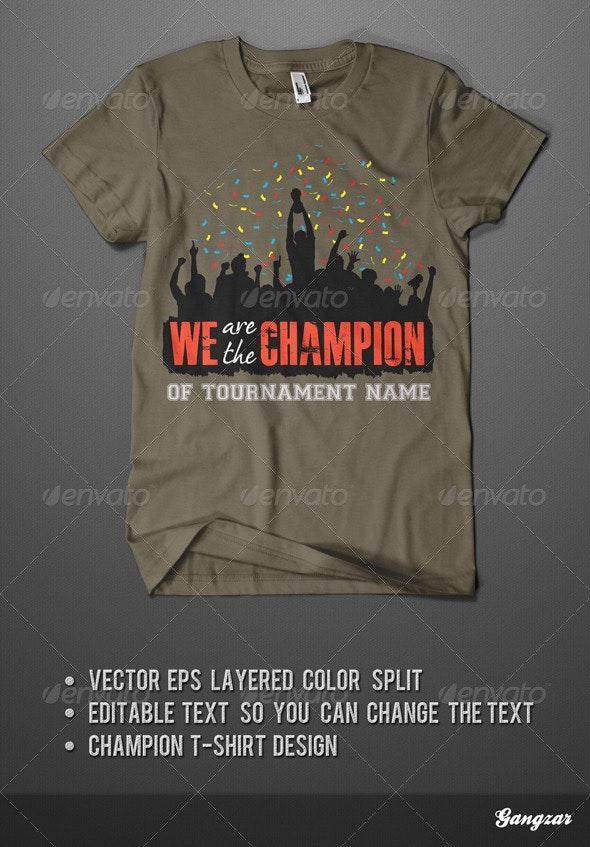 Champion T-Shirt - Sports & Teams T-Shirts