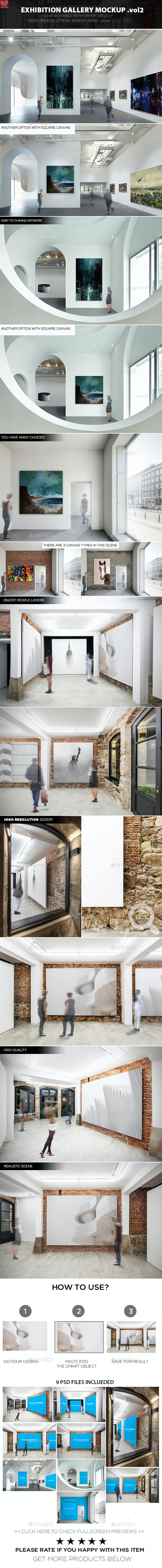 Exhibition Gallery Mockup v.2 - Posters Print