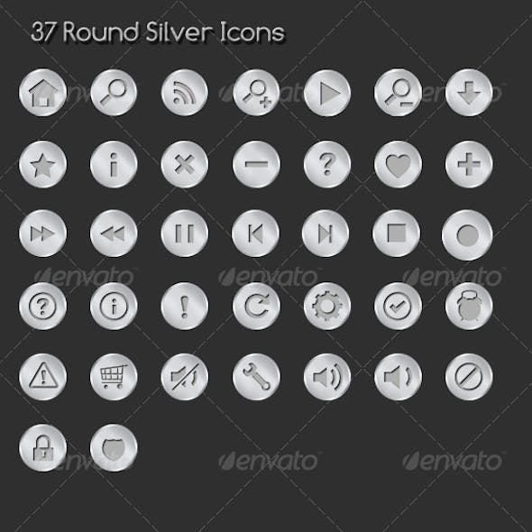 37 Rounded Sliver Icons