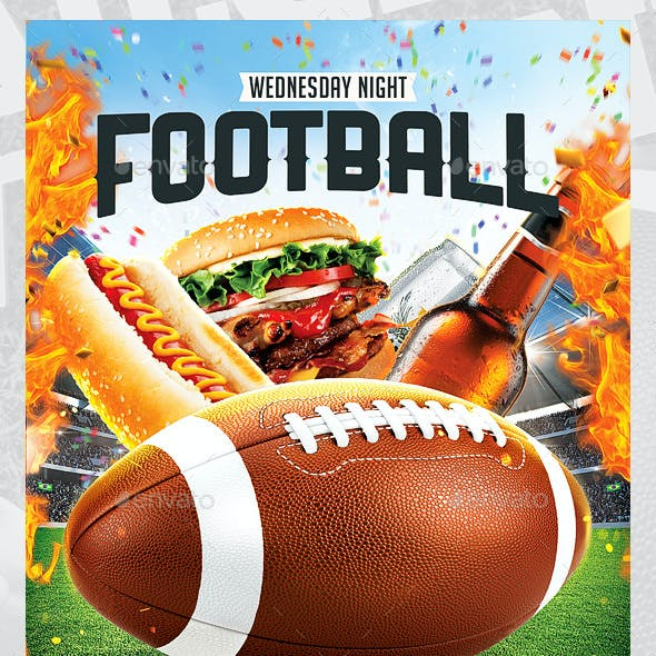American Football flyer / Tailgate Party
