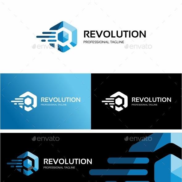 Revolution - Hexagon Logo Template