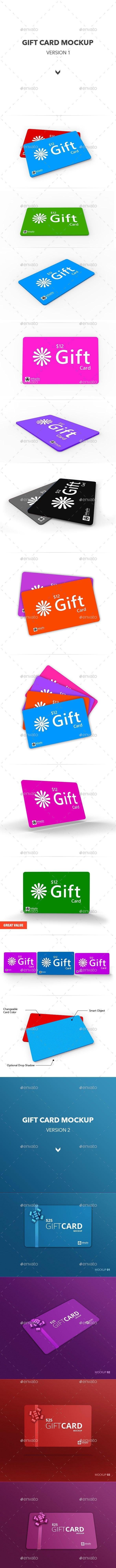 Gift Card Mockup - Miscellaneous Product Mock-Ups