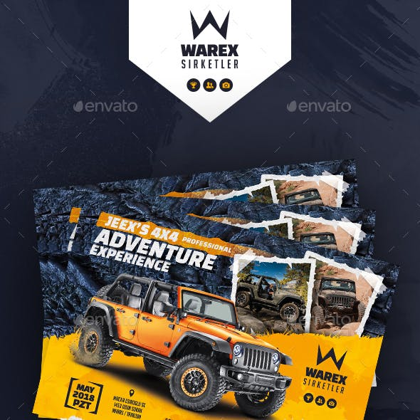 Off-Road Adventure Flyer Templates