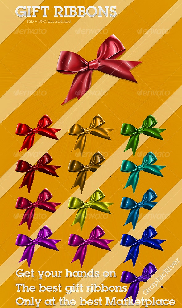 Gift Ribbons - Objects Illustrations