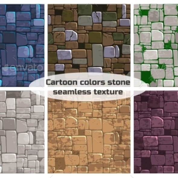 Seamless Background Texture Different Color Stone