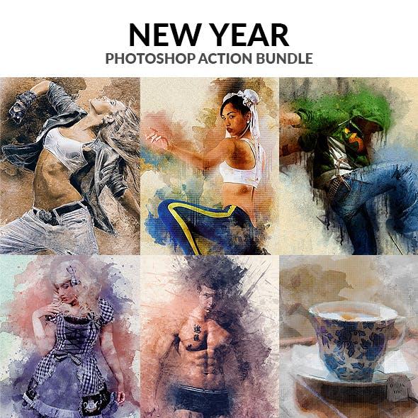 New Year Photoshop Action Bundle