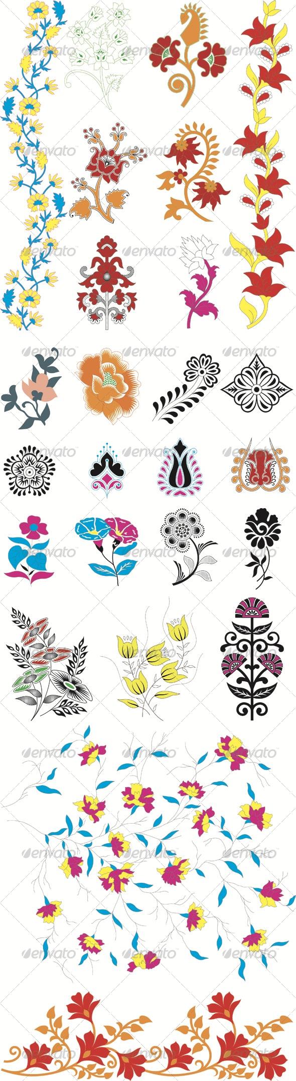 Vector Flower Pack 01 - Flourishes / Swirls Decorative