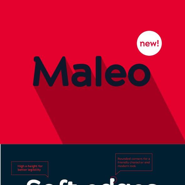 Maleo Semi Serif Font Family (6 Weights)