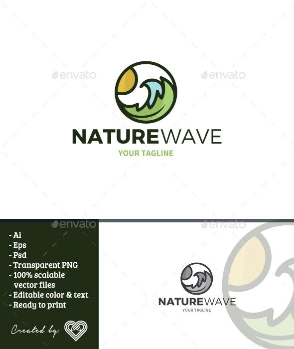 Nature Wave Logo Template - Nature Logo Templates