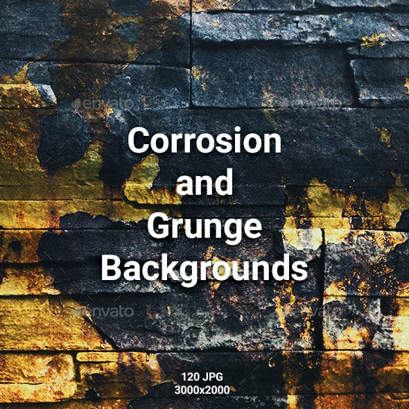 120 Corrosion and Grunge Backgrounds