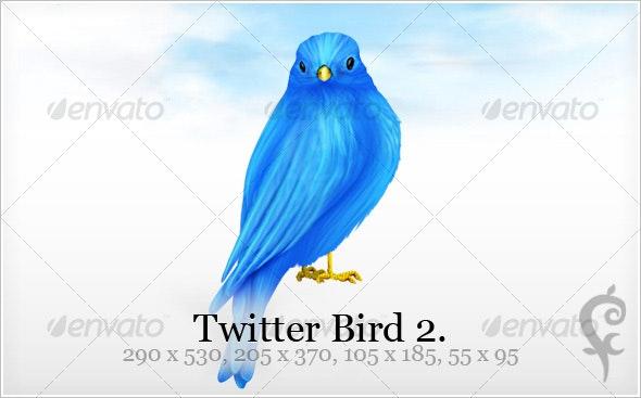 Twitter Bird 2 - Web Icons