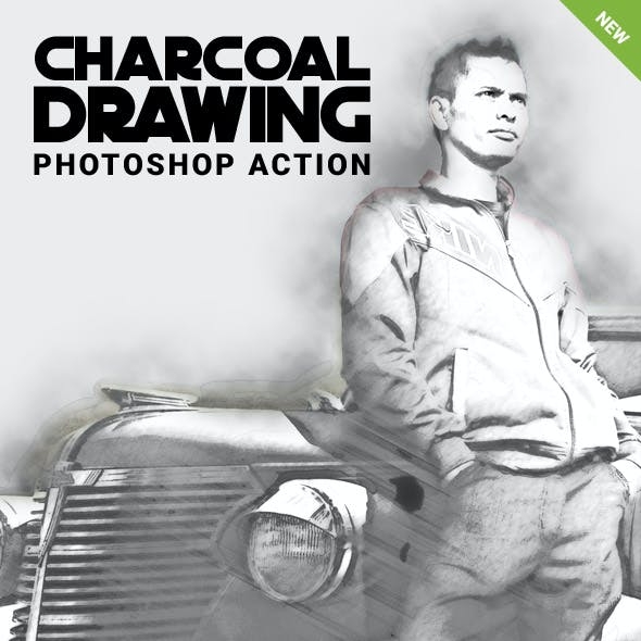 Charcoal Drawing Photoshop Action