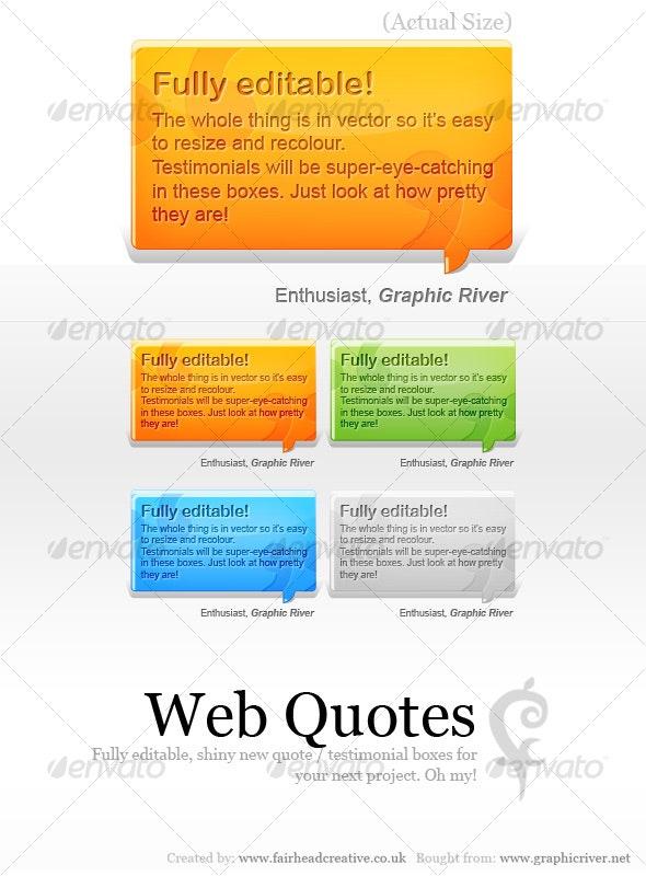 Web Quotes - Web Elements
