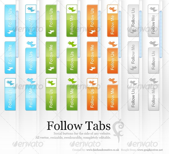 Follow Tags - Buttons Web Elements