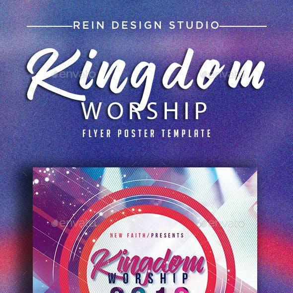 Kingdom Worship Church Flyer
