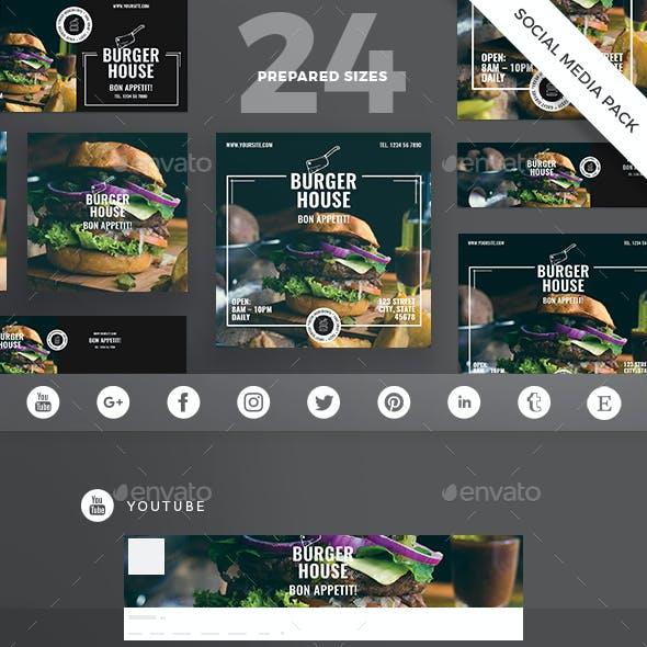 Burger House Social Media Pack