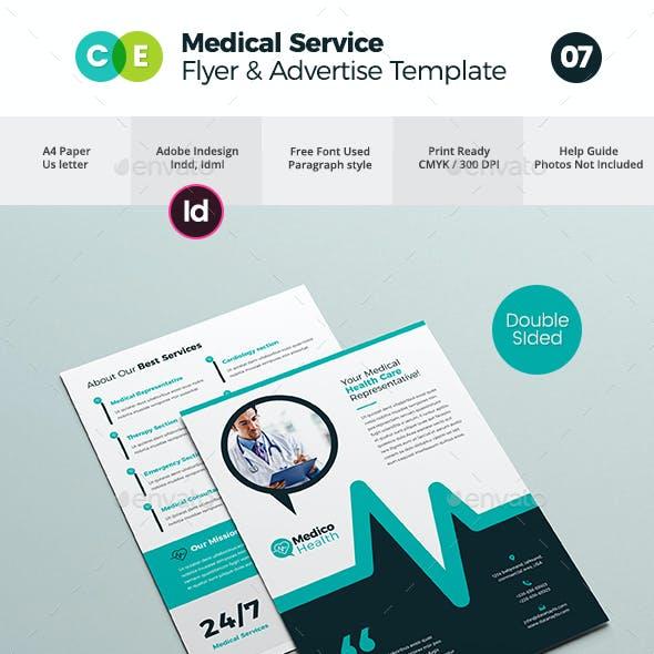 Medical Service Flyer Advertise Template V07
