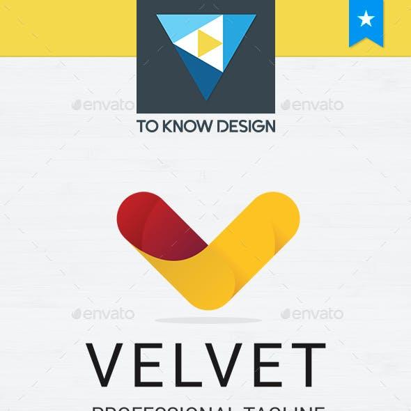 Velvet - Letter V Logo